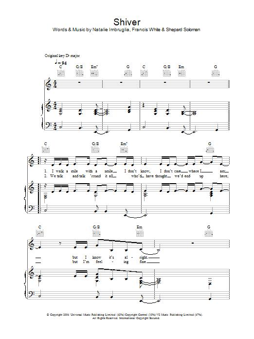 Shiver sheet music
