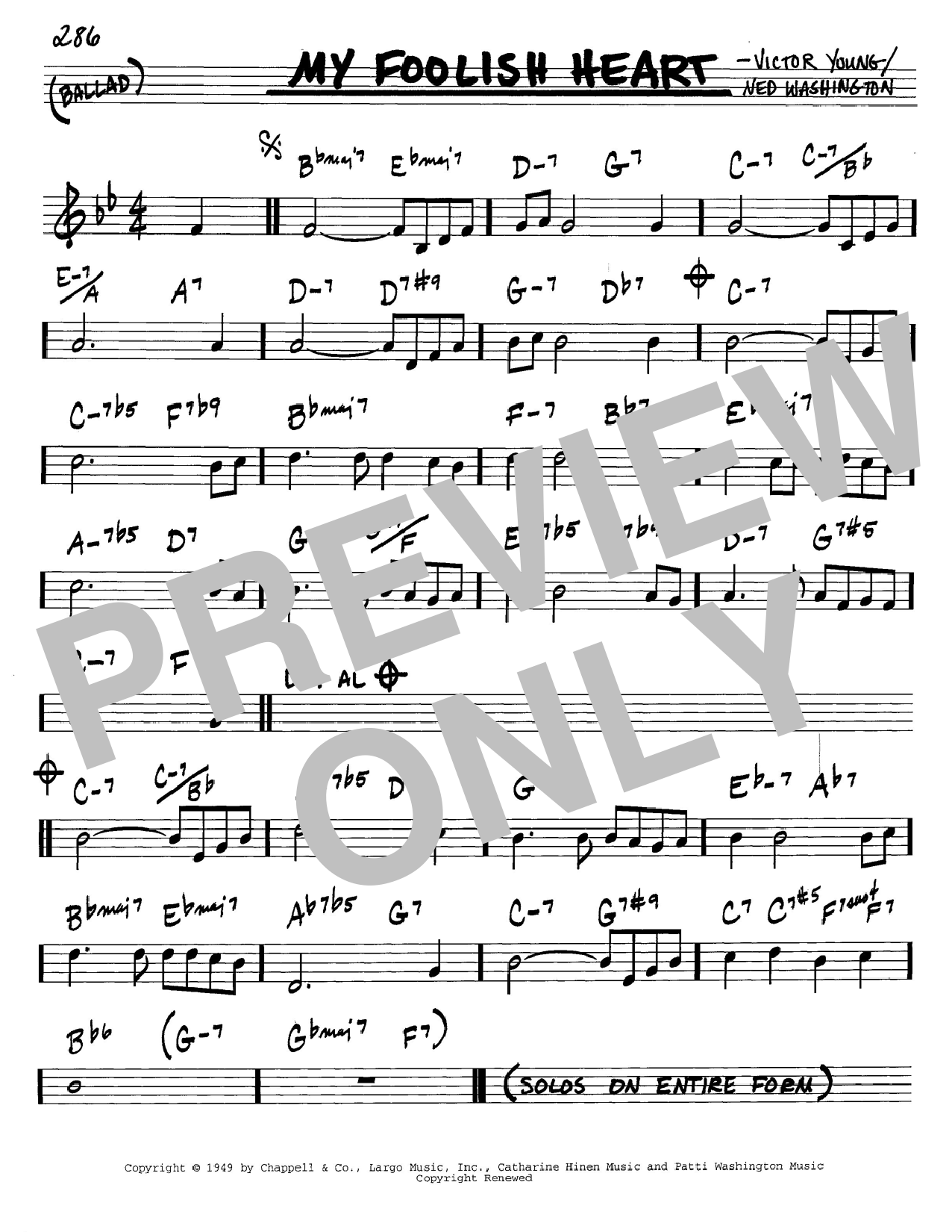 My Foolish Heart sheet music