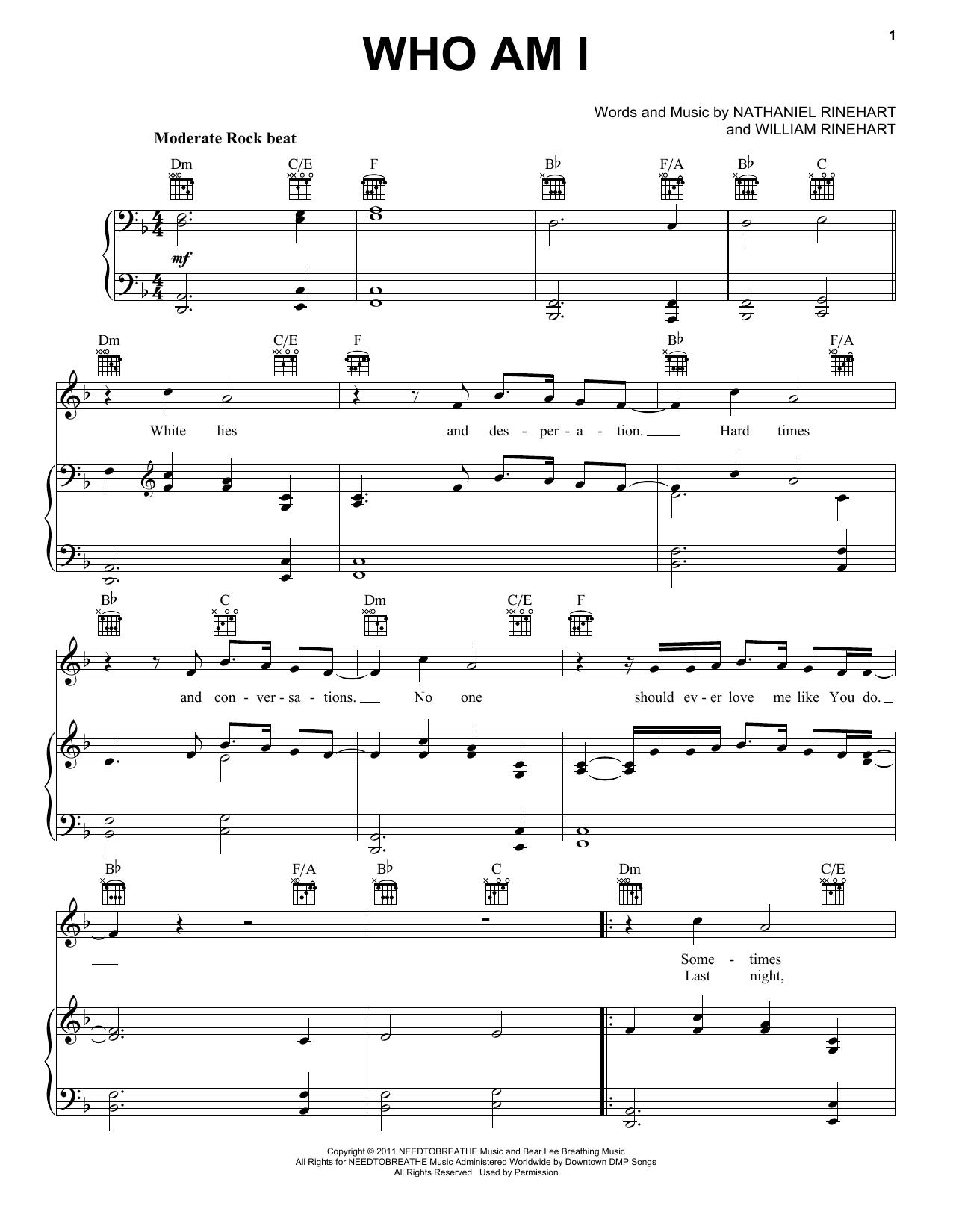 Who Am I sheet music