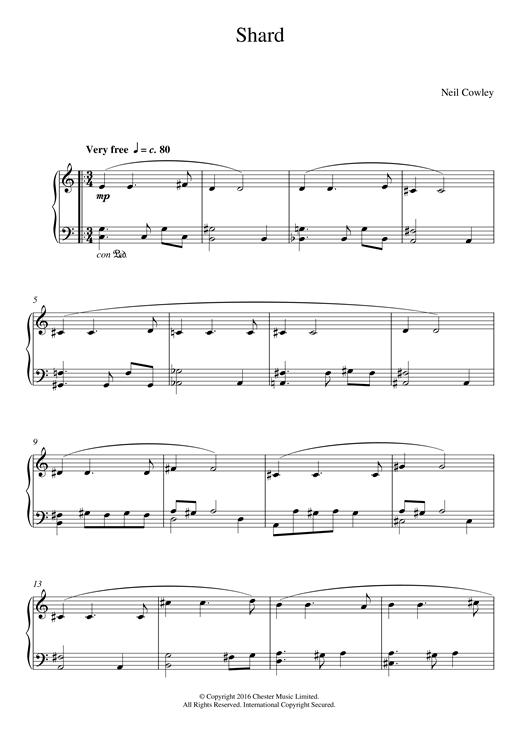 Shard sheet music