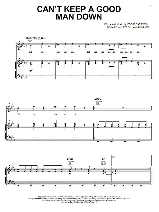 Can't Keep A Good Man Down sheet music