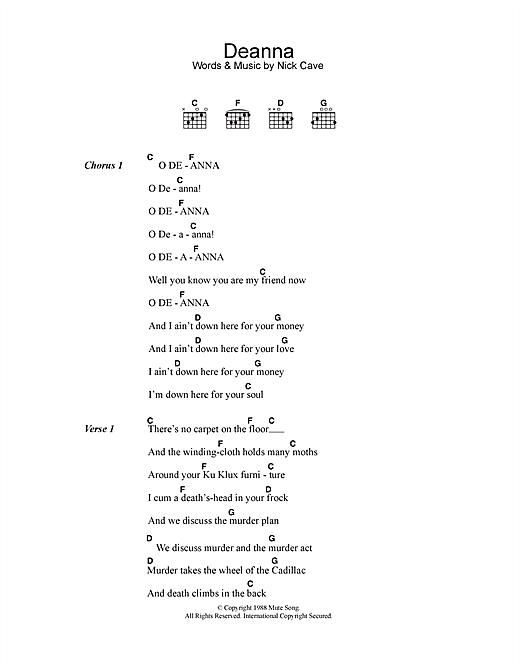 Deanna sheet music