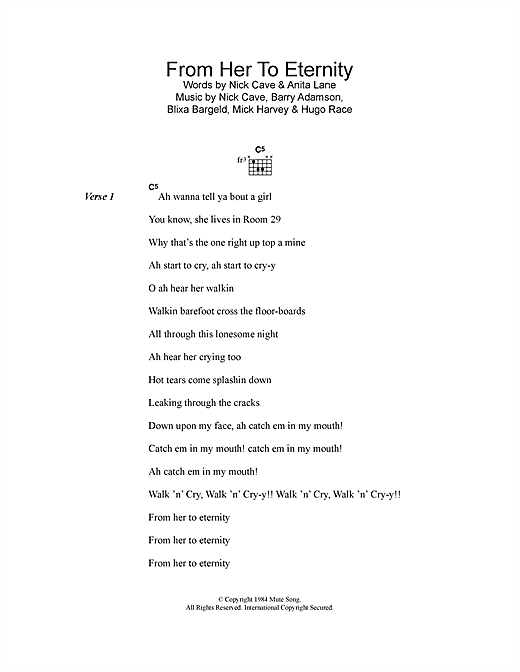 From Her To Eternity sheet music
