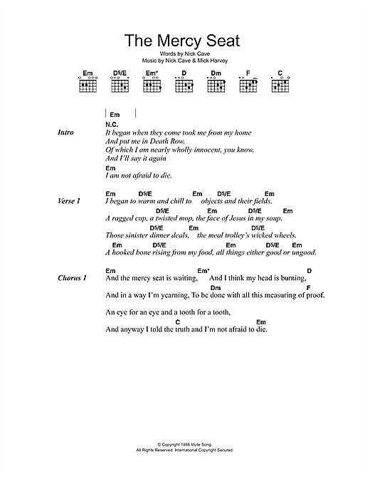 The Mercy Seat sheet music