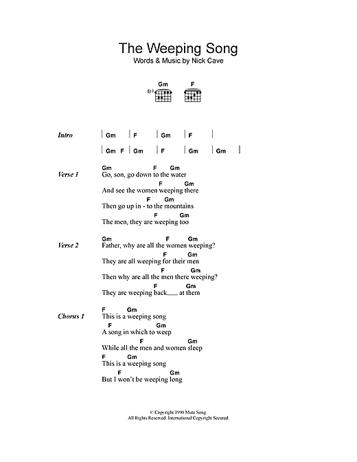 The Weeping Song sheet music