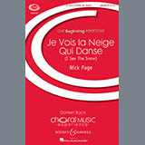 Download Nick Page Je Vois La Neige Qui Danse sheet music and printable PDF music notes