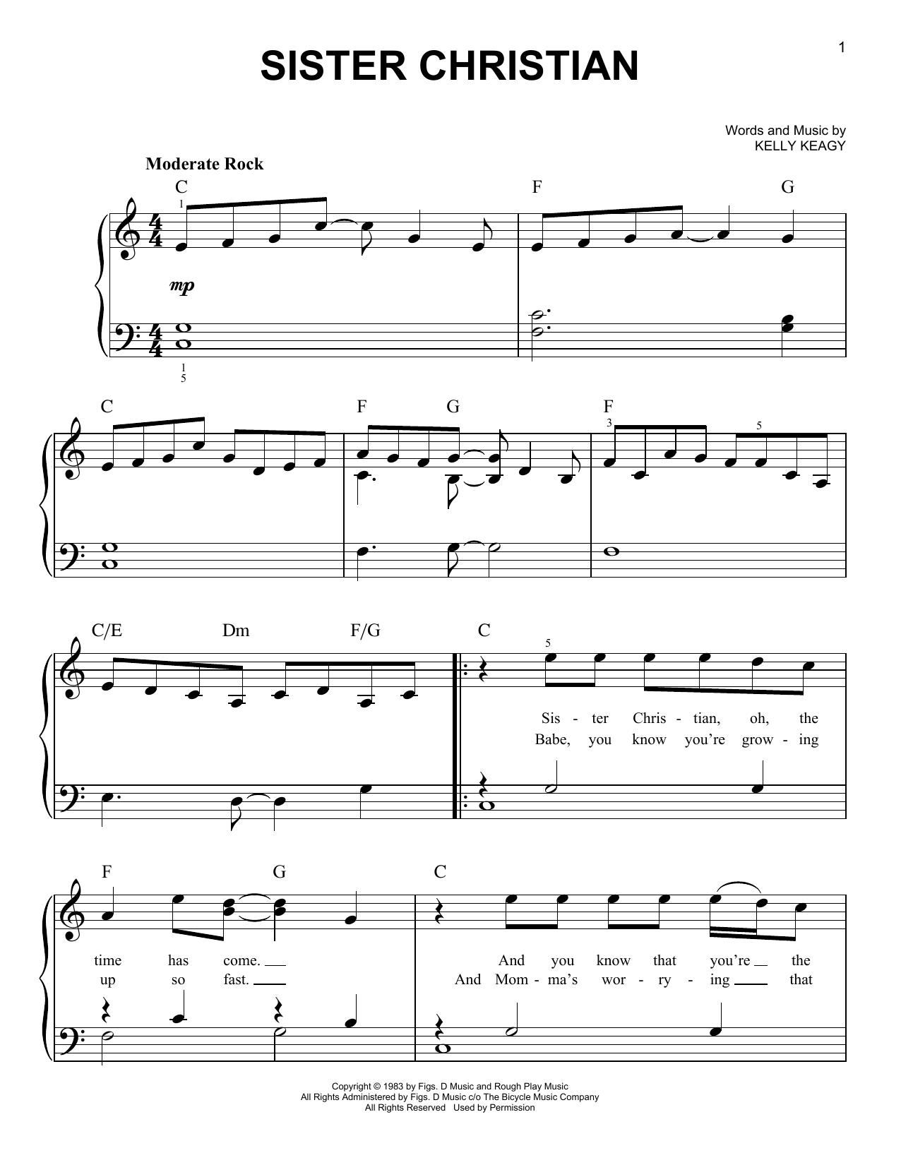 Sister Christian sheet music