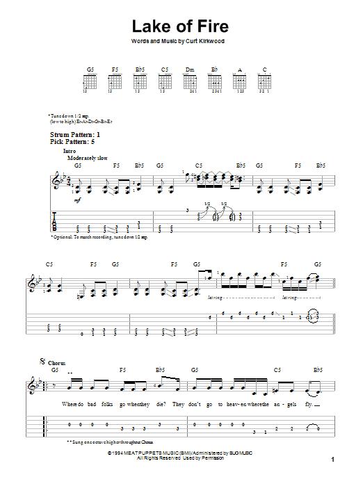 Lake Of Fire sheet music