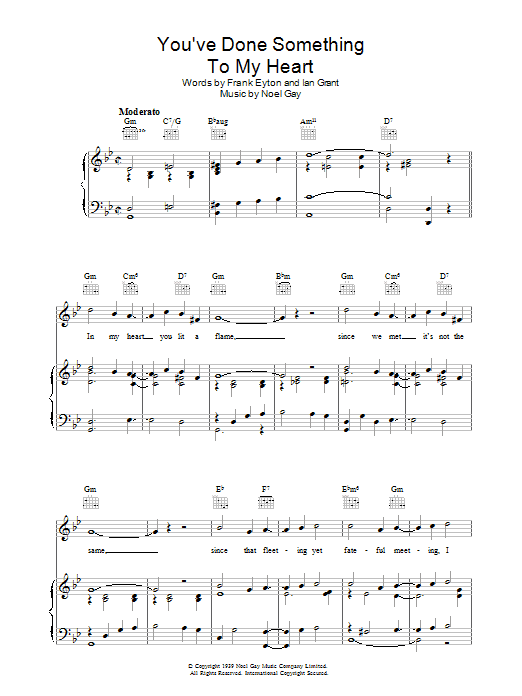 You've Done Something To My Heart sheet music