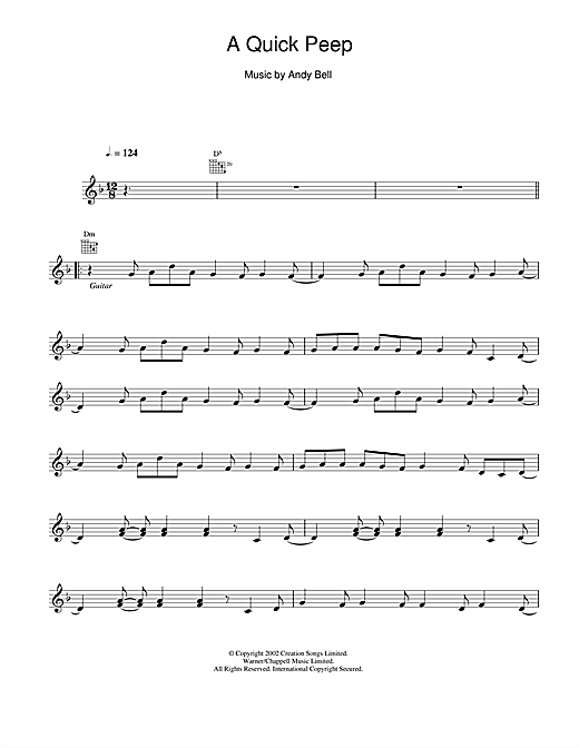 A Quick Peep sheet music