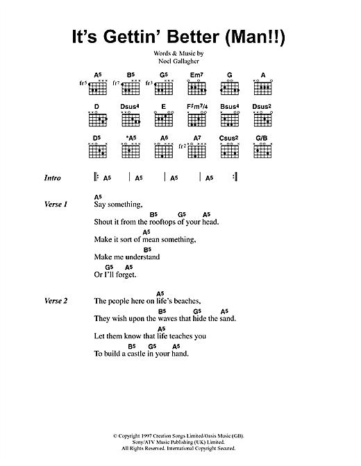 It's Gettin' Better (Man!!) sheet music