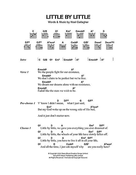 Little By Little sheet music