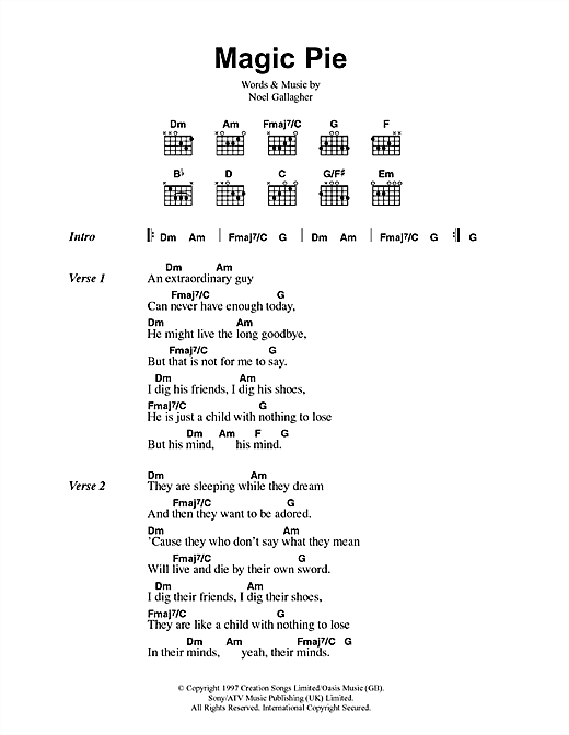 Magic Pie sheet music