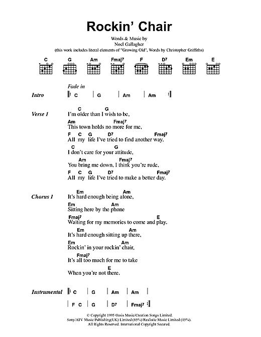 Rockin' Chair sheet music