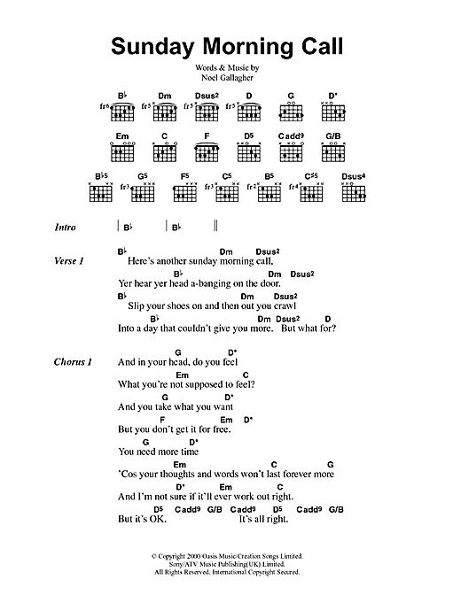 Sunday Morning Call sheet music