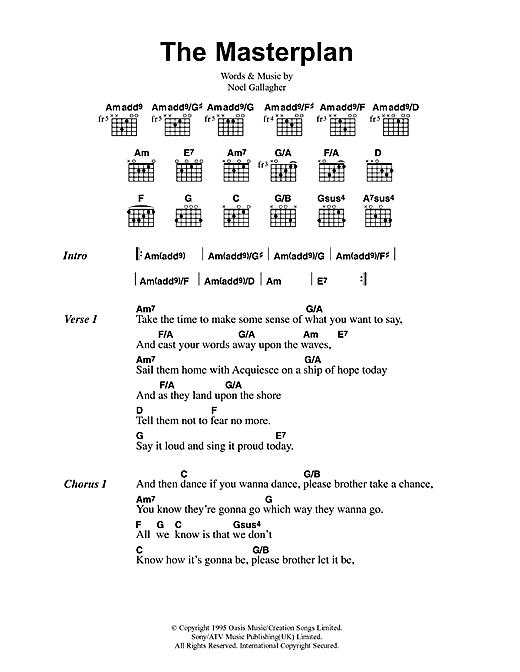 The Masterplan sheet music