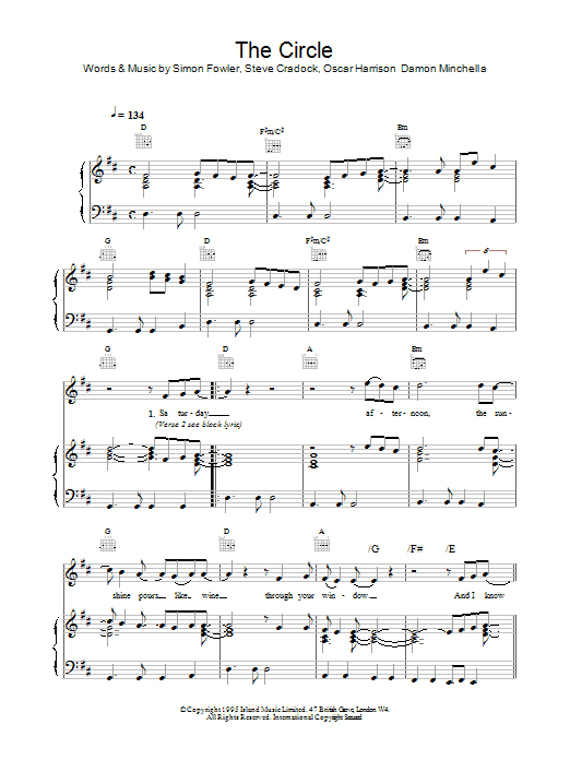 The Circle sheet music