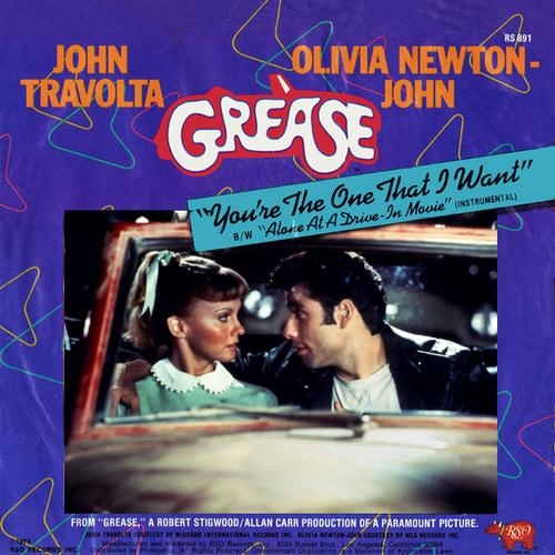 Olivia Newton-John and John Travolta, You're The One That I Want (from Grease), Melody Line, Lyrics & Chords
