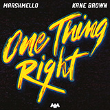 Download Marshmello & Kane Brown One Thing Right sheet music and printable PDF music notes