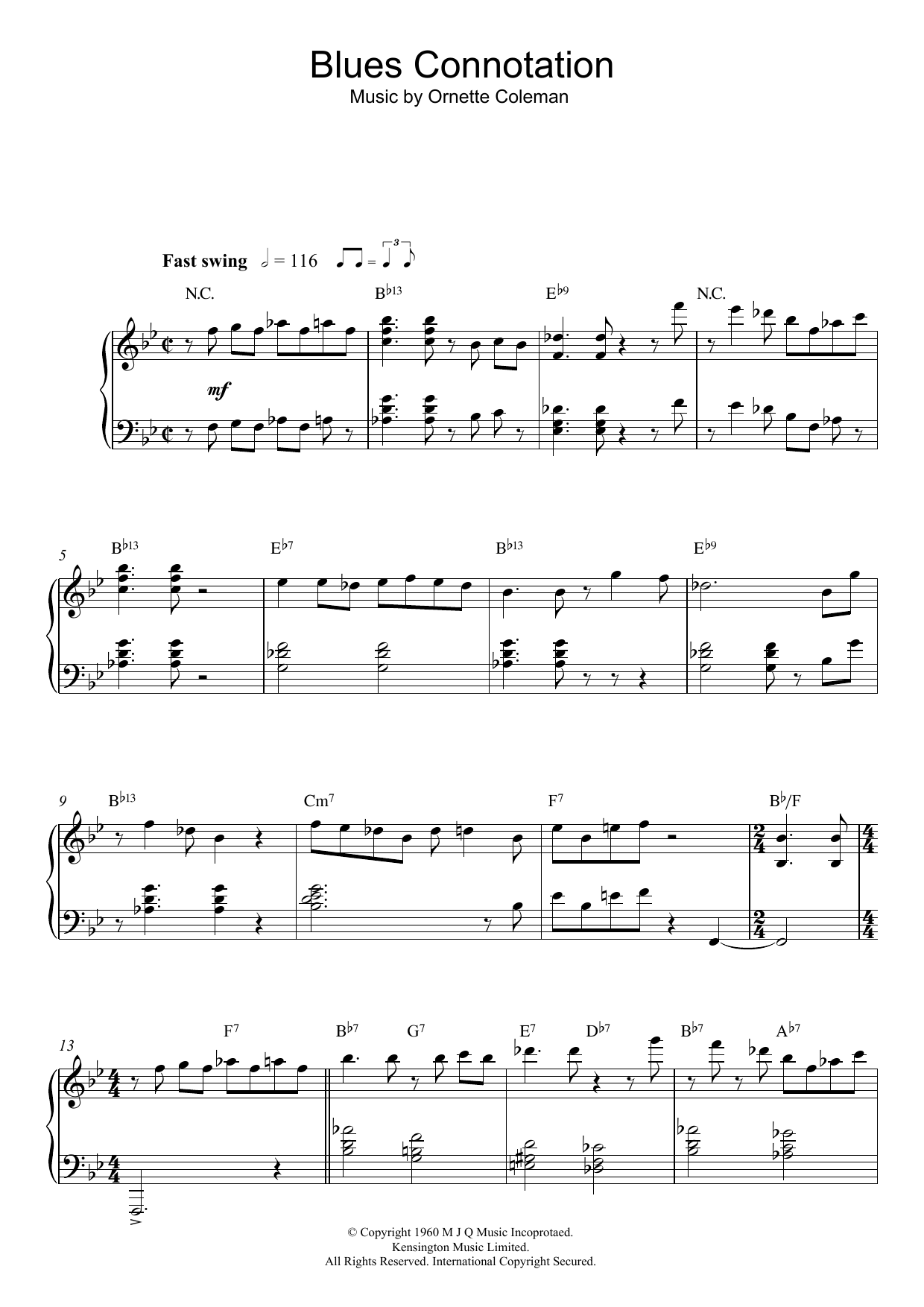 Blues Connotation sheet music