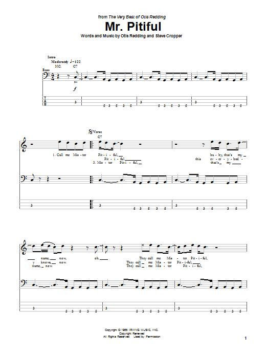 Mr. Pitiful sheet music