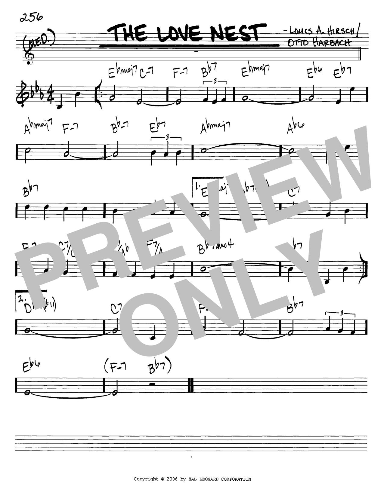 The Love Nest sheet music