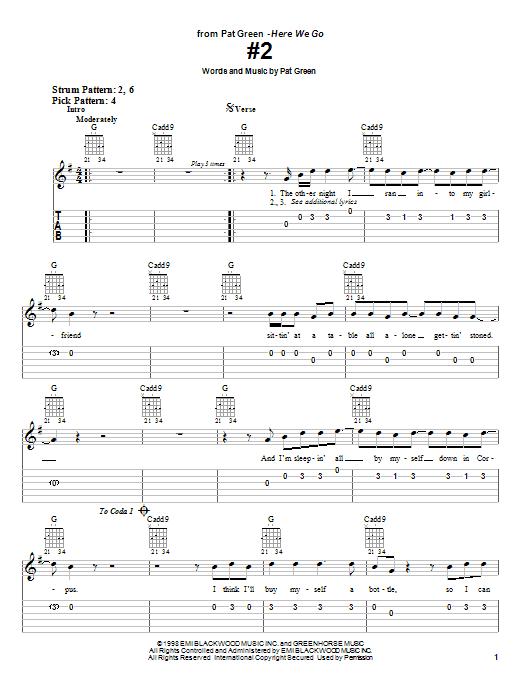 #2 sheet music