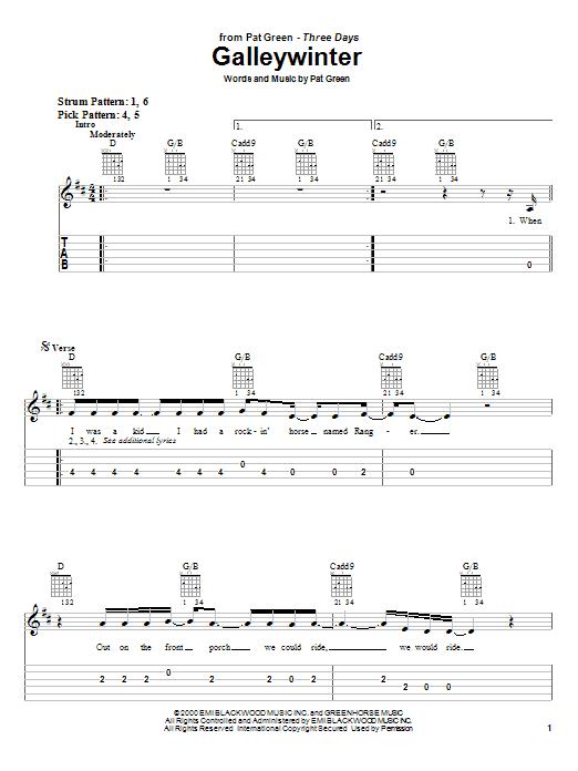 Galleywinter sheet music