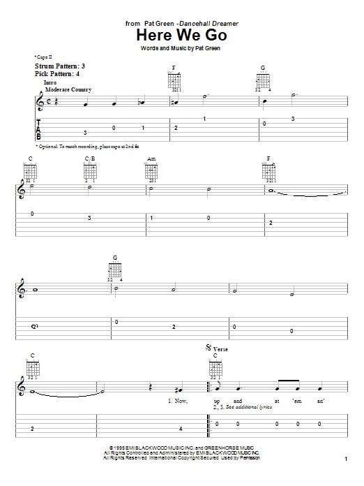 Here We Go sheet music