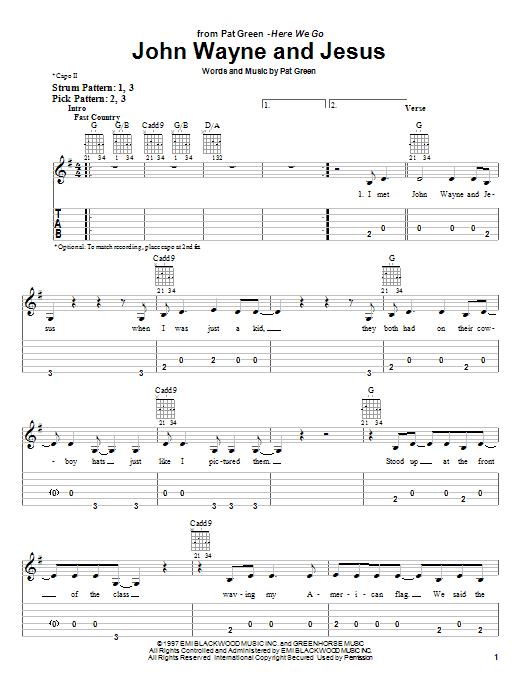 John Wayne And Jesus sheet music