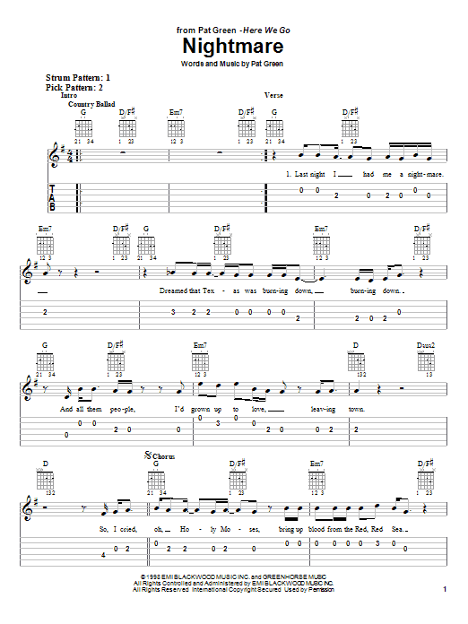Nightmare sheet music