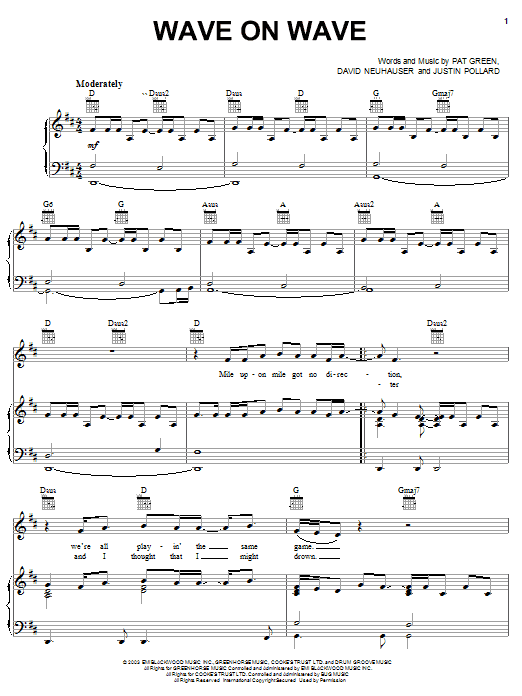 Wave On Wave sheet music