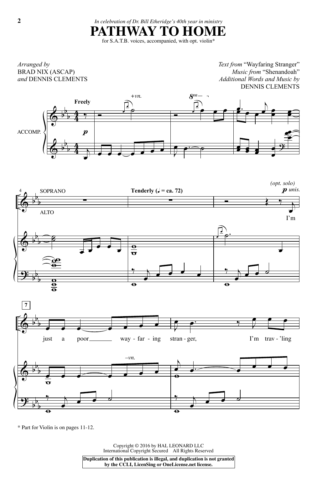 Pathway To Home sheet music