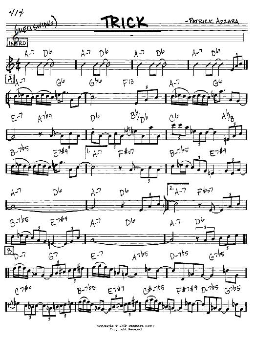 Trick sheet music