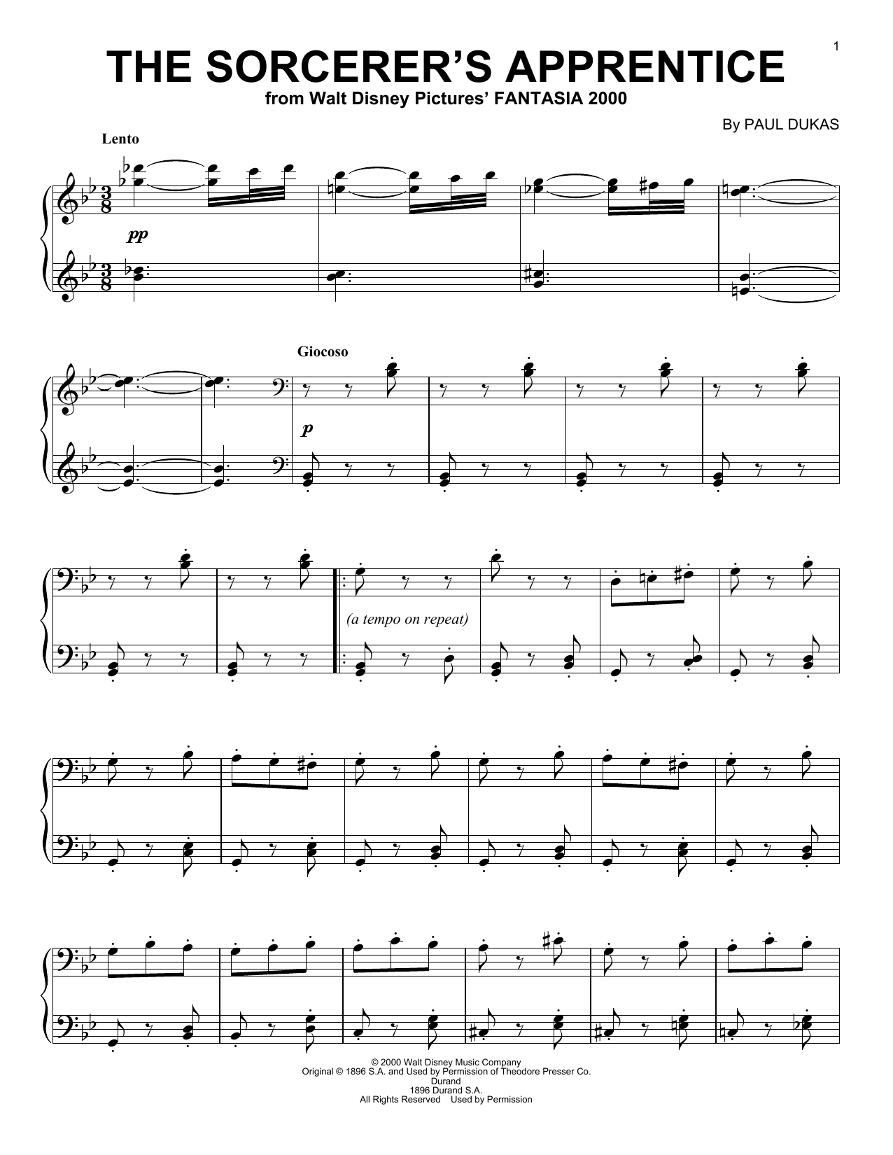 The Sorcerer's Apprentice sheet music