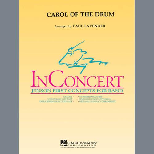 Paul Lavender, Carol of the Drum - Full Score, Concert Band