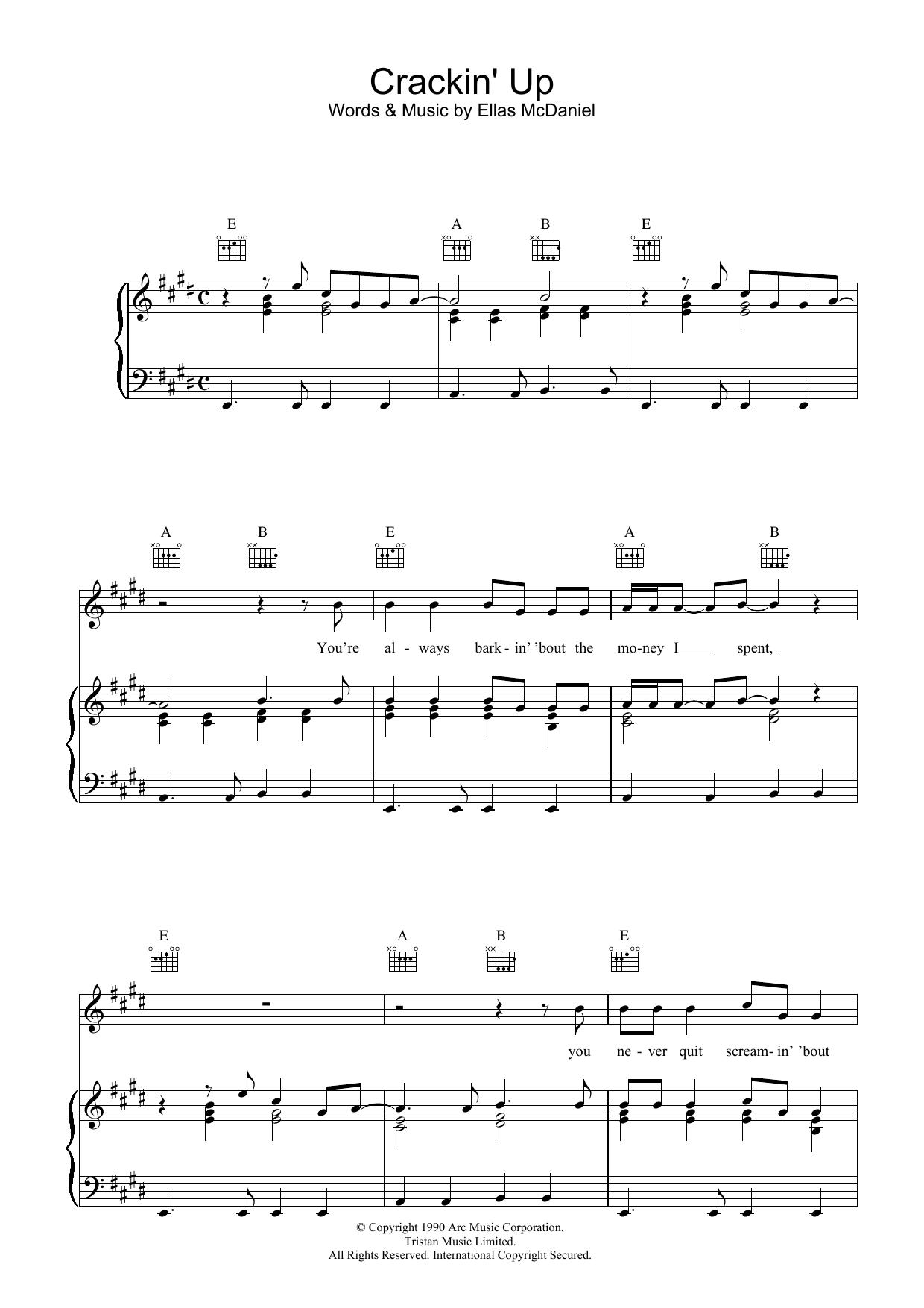Crackin' Up sheet music