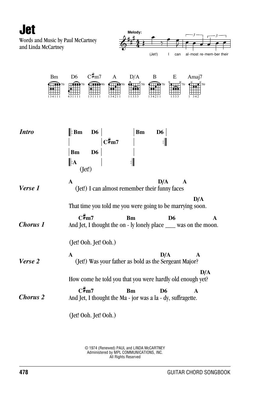 Jet sheet music