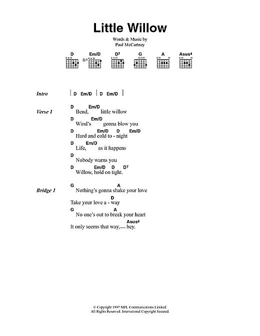 Little Willow sheet music