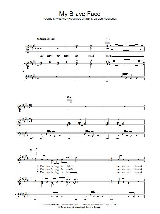 My Brave Face sheet music