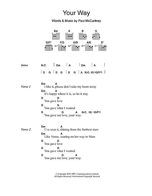 Your Way sheet music