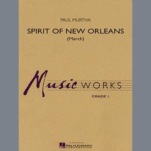Paul Murtha, Spirit Of New Orleans (March) - Bb Bass Clarinet, Concert Band