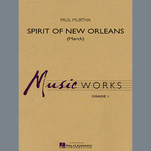 Paul Murtha, Spirit Of New Orleans (March) - Bb Clarinet 1, Concert Band