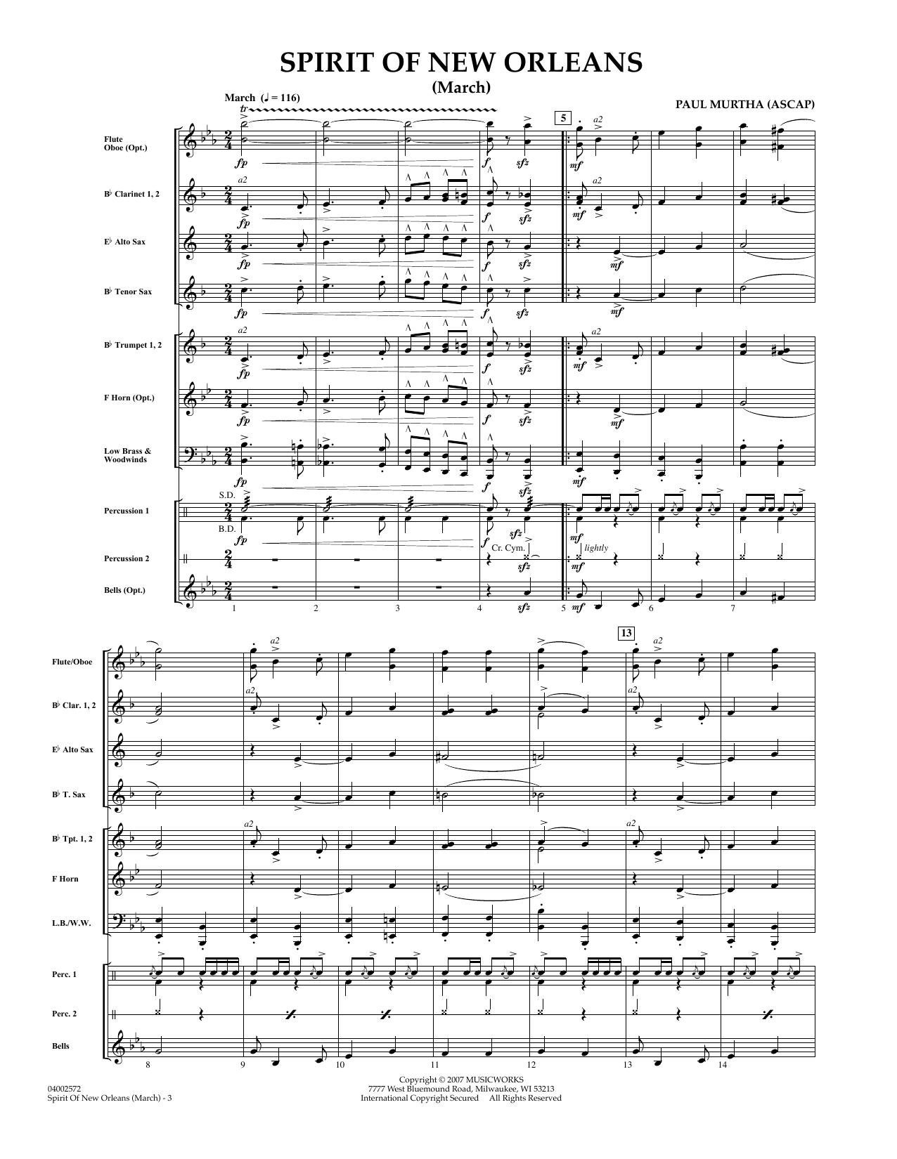 Spirit Of New Orleans (March) - Full Score sheet music