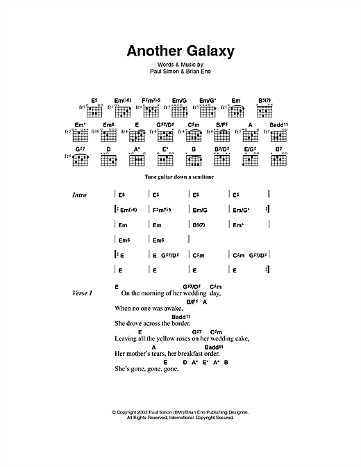 Another Galaxy sheet music