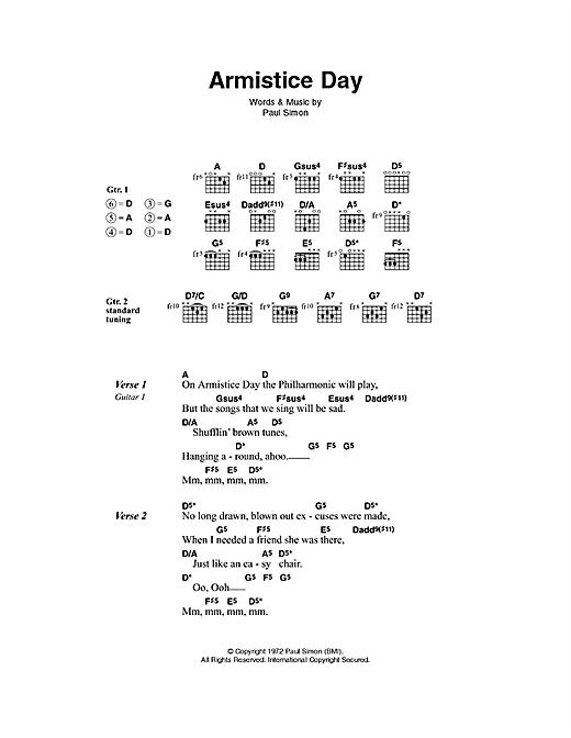 Armistice Day sheet music