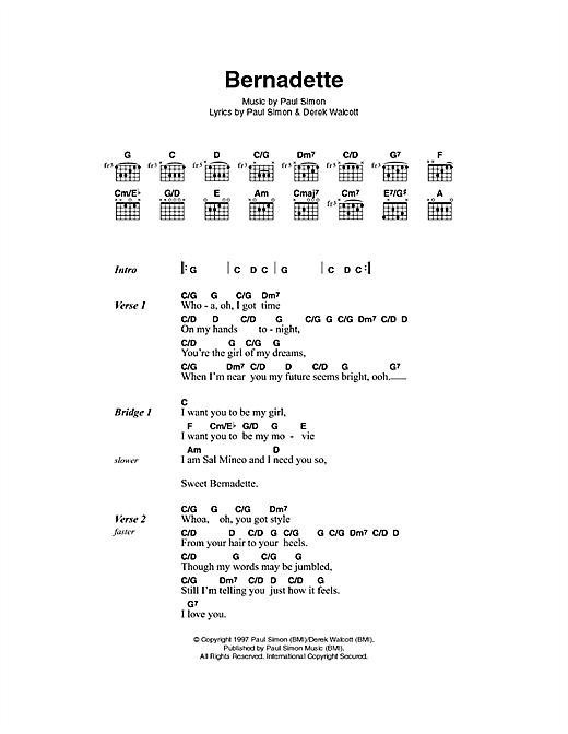 Bernadette sheet music