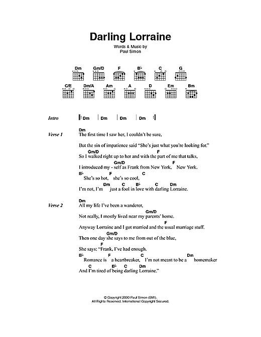 Darling Lorraine sheet music