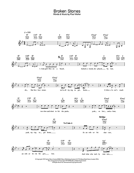 Broken Stones sheet music