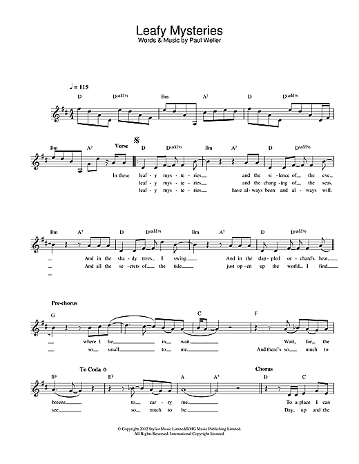 Leafy Mysteries sheet music